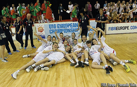 Serbia are crowned champions at the U16 European Championship Women Division B